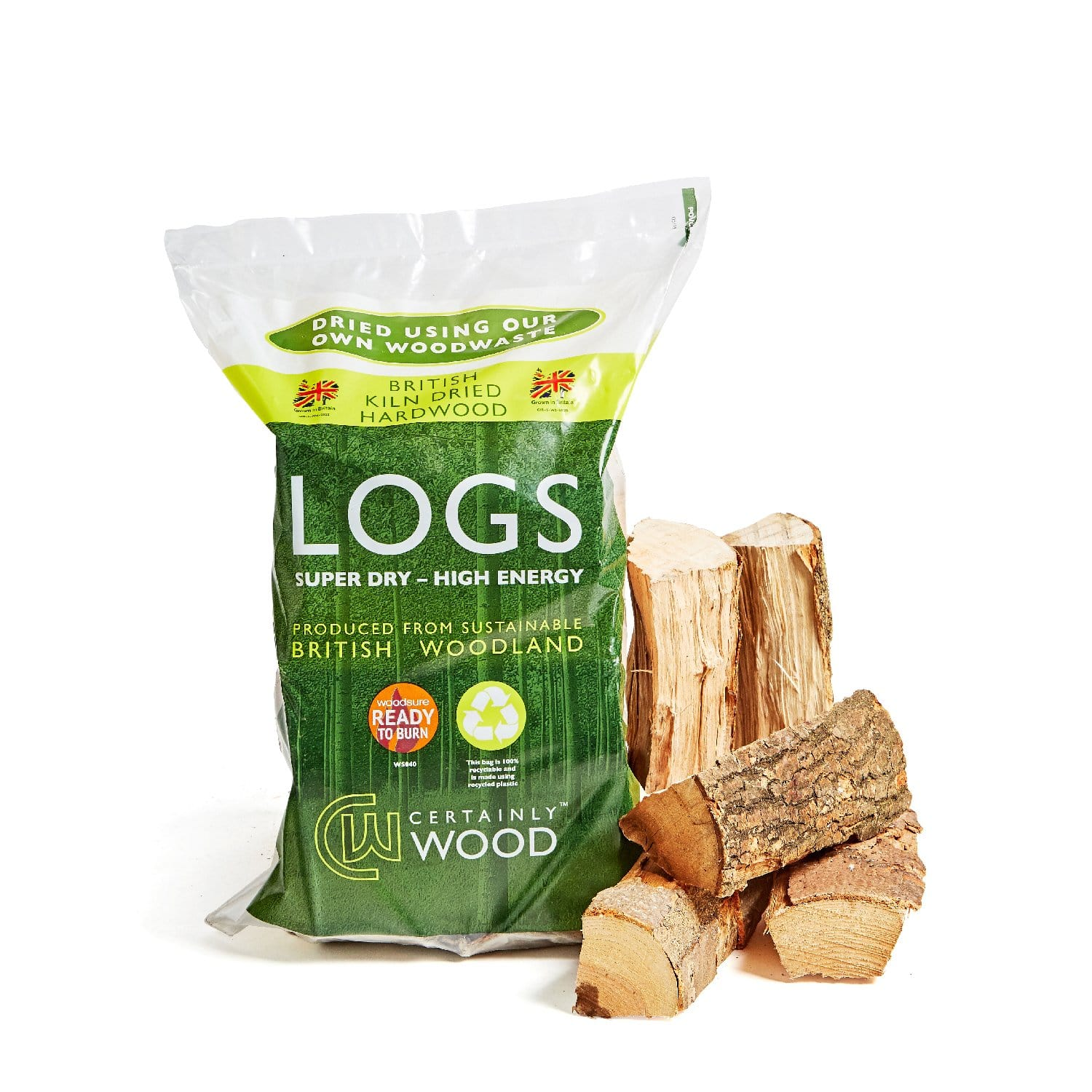 Kiln Dried Logs - 10 Bag Pallet