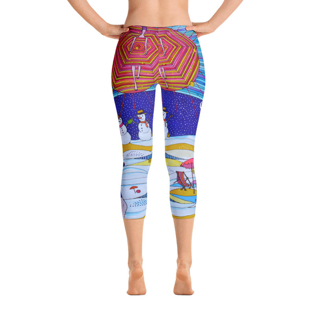 Vivid and bold leggings - colorful and striking summer clothes by Somejam - Make waves move mountains! - Capri Legging