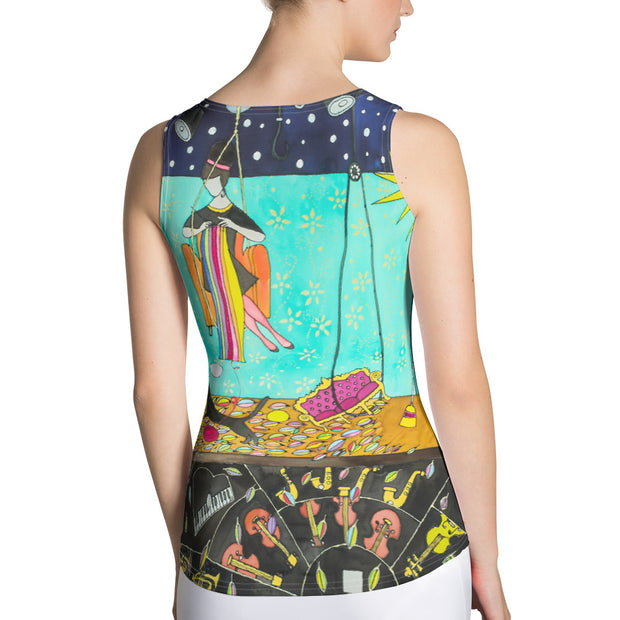 Bold and colorful tank top - striking and garish women shirts by Somejam - I shared my room with the Sun - Tank Top