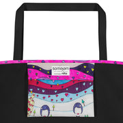 Vivid unique beach bag - colorful and flashy beachwear by Somejam - To all my lovers - Beach Bag
