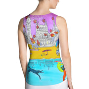 Bold and colorful tank top - striking and garish women shirts by Somejam - I don't stop for an ice cream if the house on fire - Tank Top