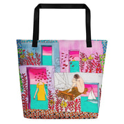 Vivid unique beach bag - colorful and flashy beachwear by Somejam - My little raft - Beach Bag