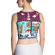 Colorful and bold crop top - striking and flashy women shirts by Somejam - Bar for those who drink empty cups - Crop Top
