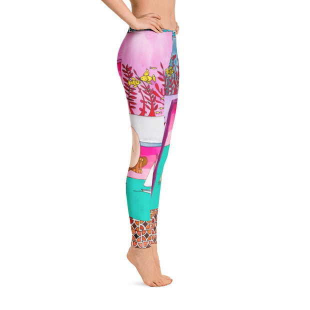 Bold and vivid leggings - colorful and garish yoga pants by Somejam - My little raft - Basic Legging