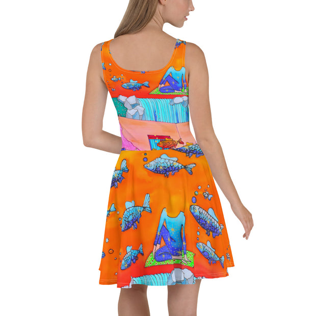 Bold and vivid Summer Dress - colorful and garish summer clothes by Somejam - What's being and what seems to be - Skater Dress