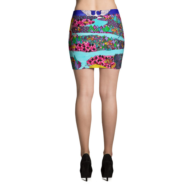 Colorful striking mini skirt - vivid and garish summer clothes by Somejam - The big IT - Mini Skirt