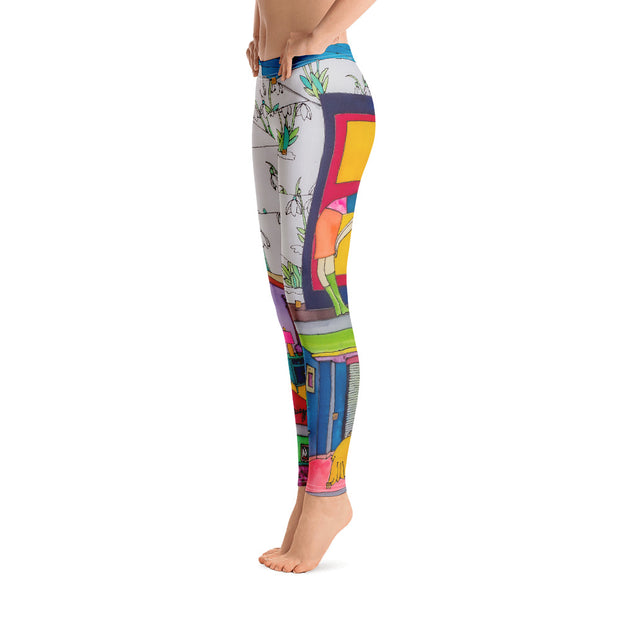 Bold and vivid leggings - colorful and garish yoga pants by Somejam - What do you see on the picture? - Basic Legging