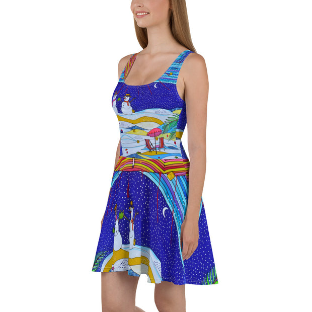 Bold and vivid Summer Dress - colorful and garish summer clothes by Somejam - Make waves move mountains! - Skater Dress