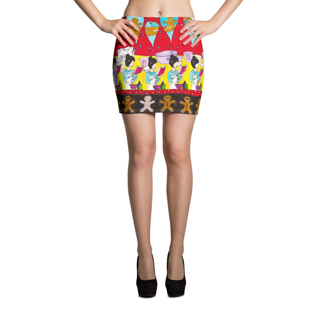 Colorful striking mini skirt - vivid and garish summer clothes by Somejam - December love - Mini Skirt