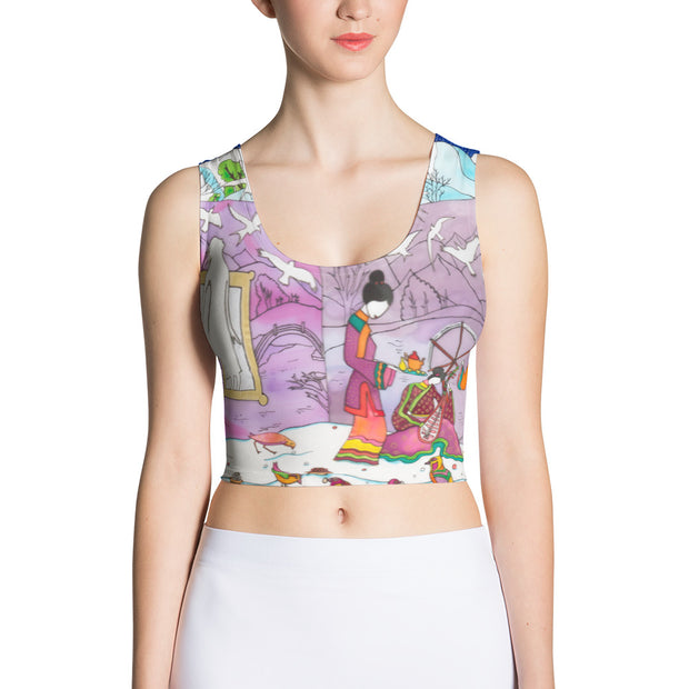 Colorful and bold crop top - striking and flashy women shirts by Somejam - Show me your sorrow - Crop Top