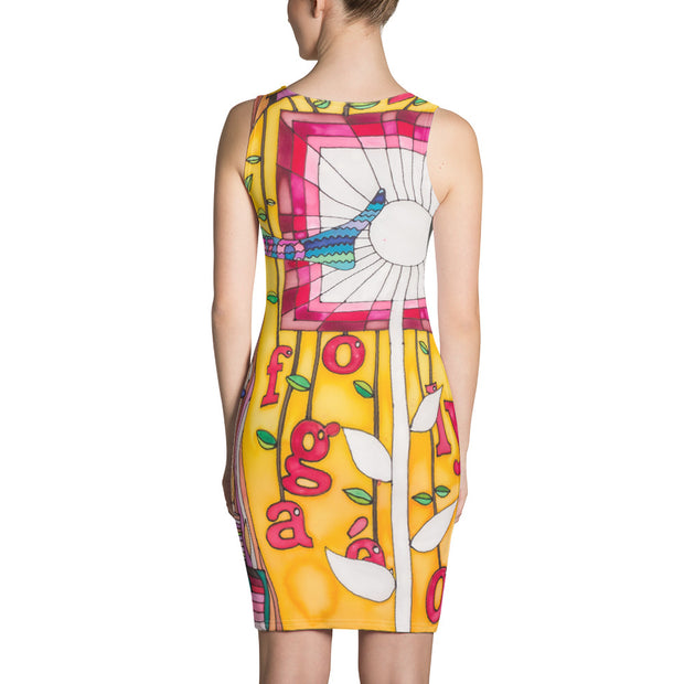 Colorful tight Summer Dress - vivid and garish summer clothes by Somejam - Bed of the river - Strait Dress