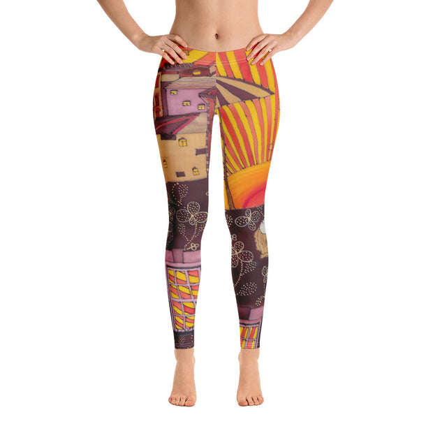 Bold and vivid leggings - colorful and garish yoga pants by Somejam - Zero point - Basic Legging