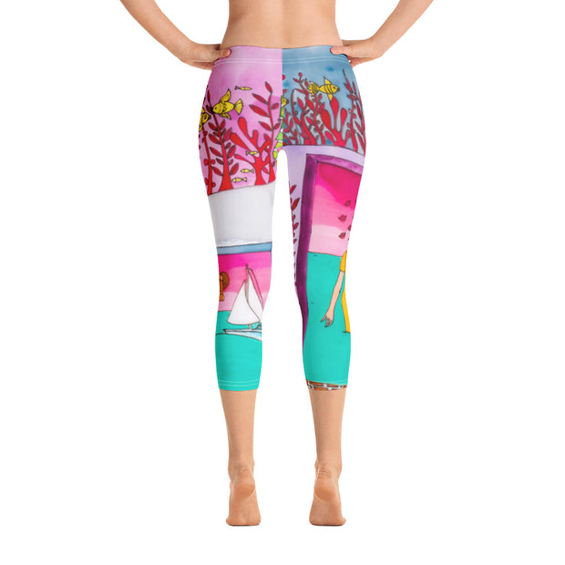 Vivid and bold leggings - colorful and striking summer clothes by Somejam - My little raft - Capri Legging
