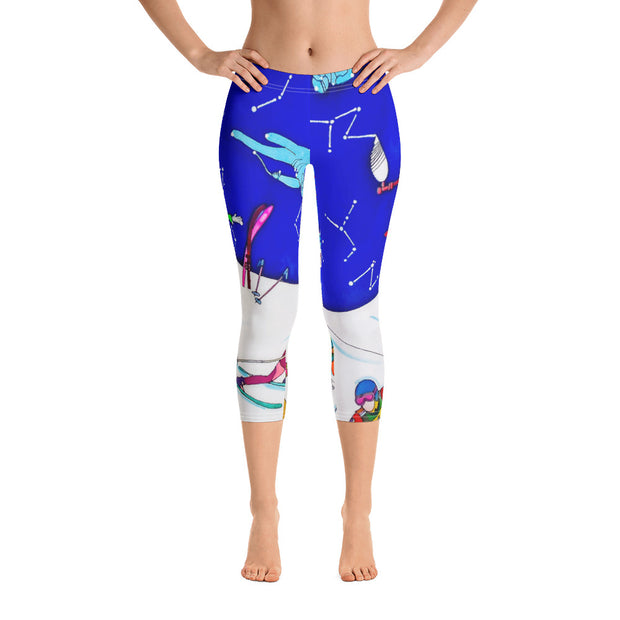 Vivid and bold leggings - colorful and striking summer clothes by Somejam - I have been a constellation - Capri Legging
