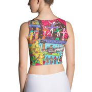 Colorful and bold crop top - striking and flashy women shirts by Somejam - How did this dance get into my pantry? - Crop Top