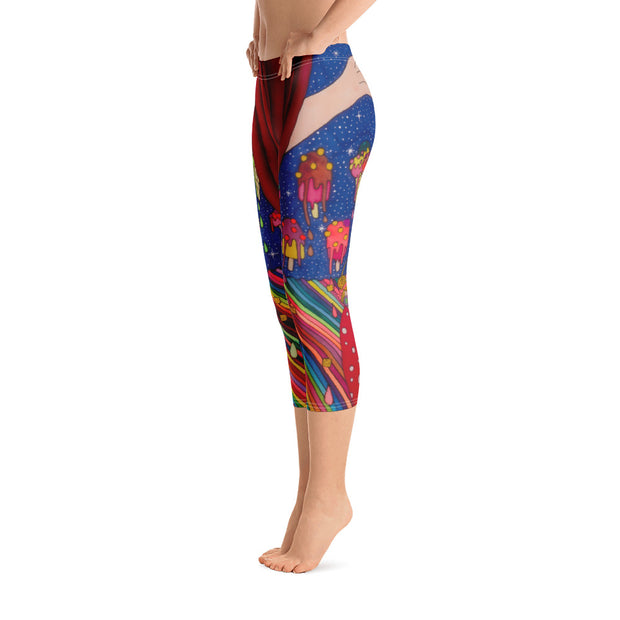 Vivid and bold leggings - colorful and striking summer clothes by Somejam - Don't be afraid of melting - Capri Legging