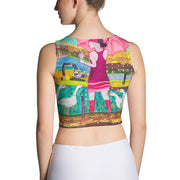 Colorful and bold crop top - striking and flashy women shirts by Somejam - Rebuilding the Puszta - Crop Top