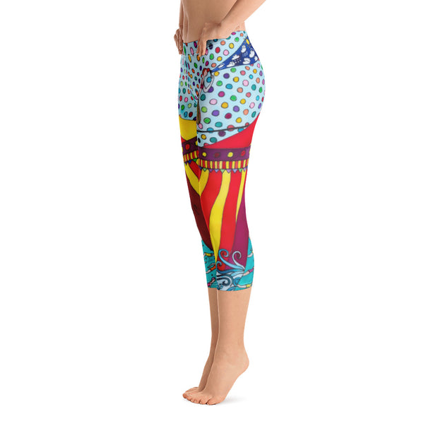 Vivid and bold leggings - colorful and striking summer clothes by Somejam - The circus has surrendered - Capri Legging