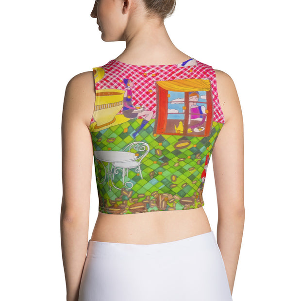 Colorful and bold crop top - striking and flashy women shirts by Somejam - …is happiness - Crop Top