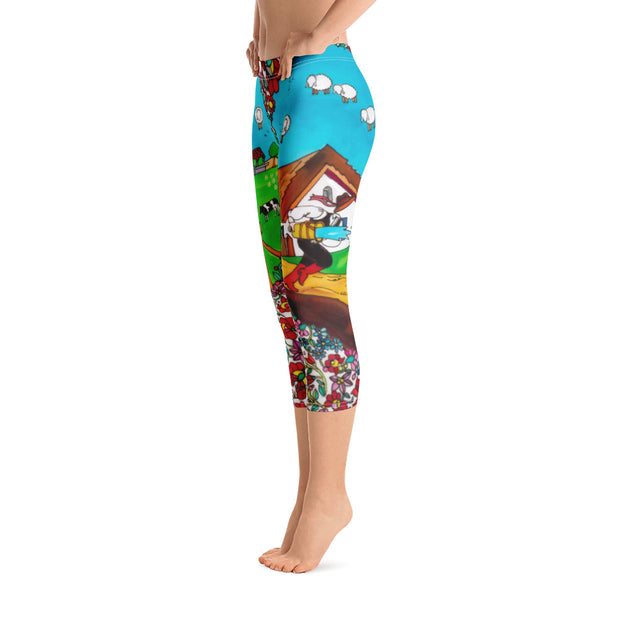 Vivid and bold leggings - colorful and striking summer clothes by Somejam - Mind – the wife of the heart - Capri Legging