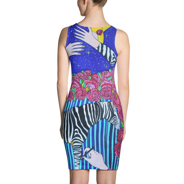 Colorful tight Summer Dress - vivid and garish summer clothes by Somejam - I wish I was a Zebra - Strait Dress