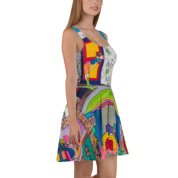 Bold and vivid Summer Dress - colorful and garish summer clothes by Somejam - What do you see on the picture? - Skater Dress
