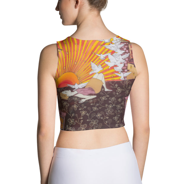Colorful and bold crop top - striking and flashy women shirts by Somejam - Zero point - Crop Top