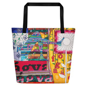 Vivid unique beach bag - colorful and flashy beachwear by Somejam - Bed of the river - Beach Bag