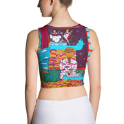 Colorful and bold crop top - striking and flashy women shirts by Somejam - Fatally sweet - Crop Top
