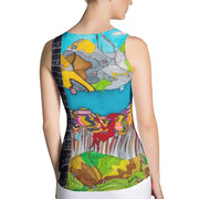 Bold and colorful tank top - striking and garish women shirts by Somejam - My chair is beyond the margins - Tank Top
