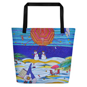 Vivid unique beach bag - colorful and flashy beachwear by Somejam - Make waves move mountains! - Beach Bag