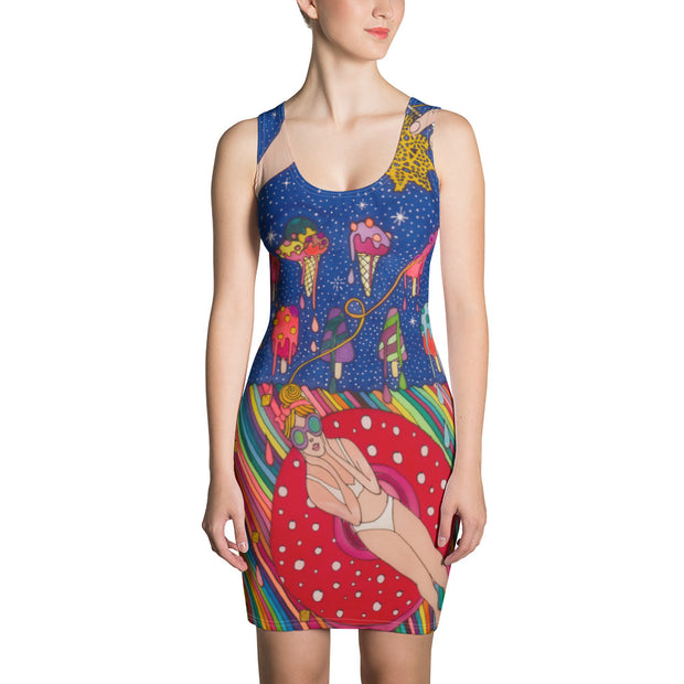 Colorful tight Summer Dress - vivid and garish summer clothes by Somejam - Don't be afraid of melting - Strait Dress
