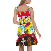 Bold and vivid Summer Dress - colorful and garish summer clothes by Somejam - December love - Skater Dress