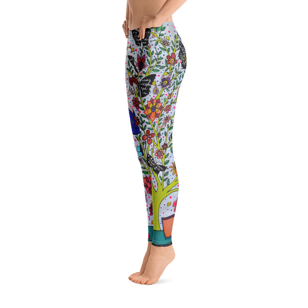 Bold and vivid leggings - colorful and garish yoga pants by Somejam - I had to wait for my rider - Basic Legging