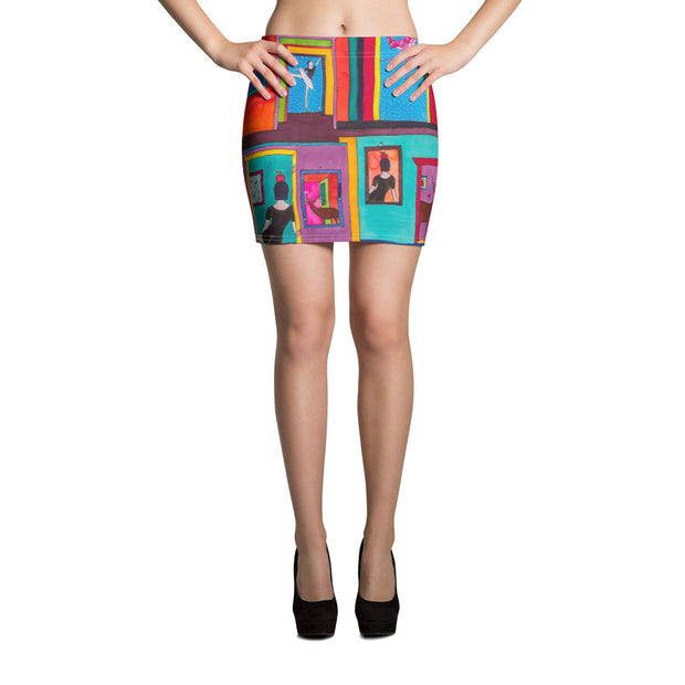 Colorful striking mini skirt - vivid and garish summer clothes by Somejam - Hope dies last - Mini Skirt