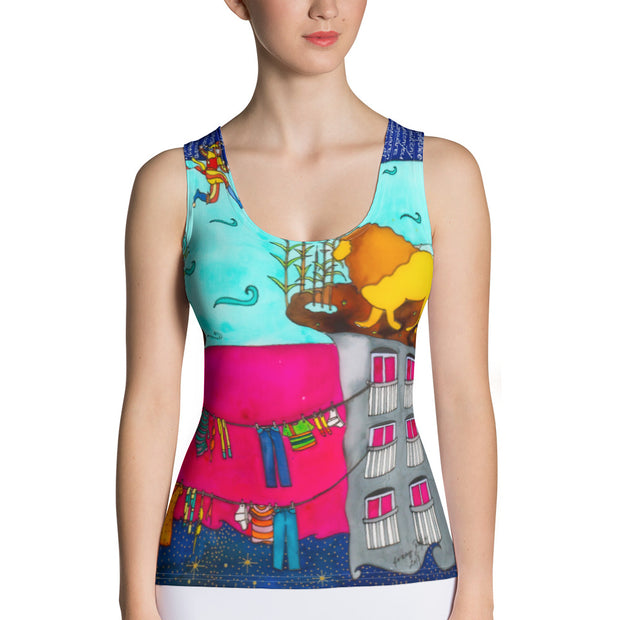 Bold and colorful tank top - striking and garish women shirts by Somejam - Make the Fool jump instead of me - Tank Top