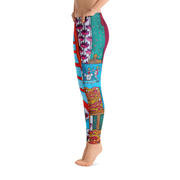 Bold and vivid leggings - colorful and garish yoga pants by Somejam - Fatally sweet - Basic Legging