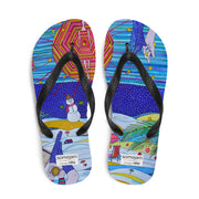 Colorful unique flip-flops - vivid and bold beachwear by Somejam - Make waves move mountains! - Flip-Flops