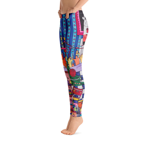 Bold and vivid leggings - colorful and garish yoga pants by Somejam - Self-portrait 2011 - Basic Legging