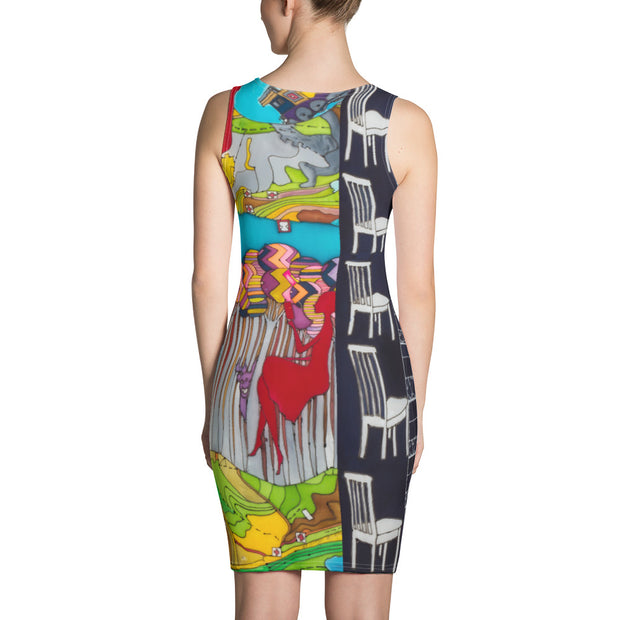 Colorful tight Summer Dress - vivid and garish summer clothes by Somejam - My chair is beyond the margins - Strait Dress