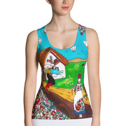 Bold and colorful tank top - striking and garish women shirts by Somejam - Mind, the wife of the heart - Tank Top