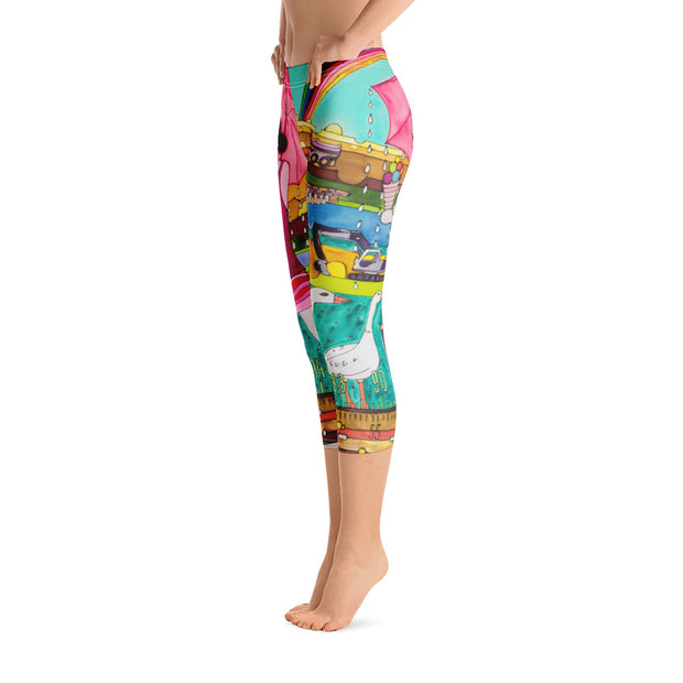 Vivid and bold leggings - colorful and striking summer clothes by Somejam - Rebuliding the Puszta - Capri Legging