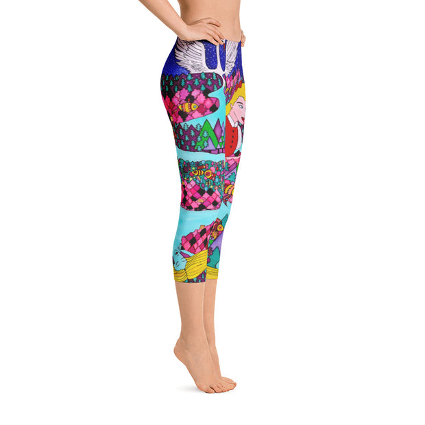 Vivid and bold leggings - colorful and striking summer clothes by Somejam - The big IT - Capri Legging