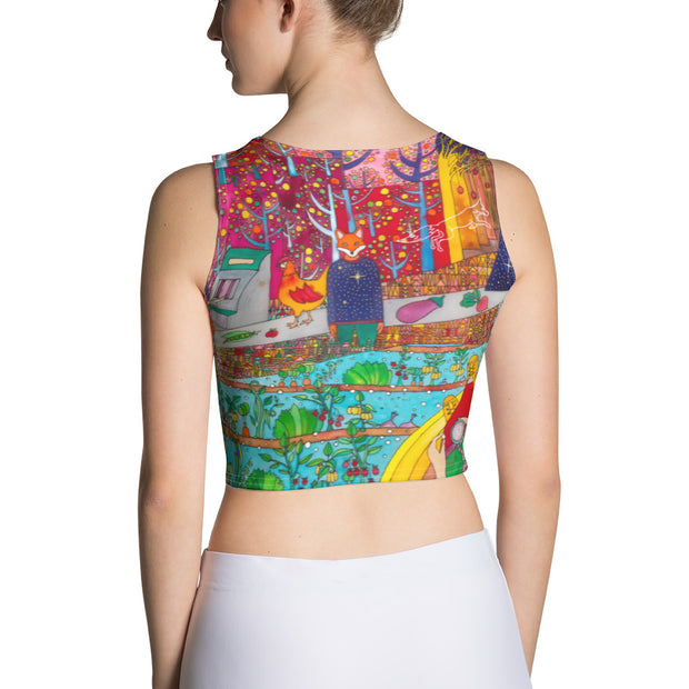 Colorful and bold crop top - striking and flashy women shirts by Somejam - On a star – in a star - Crop Top
