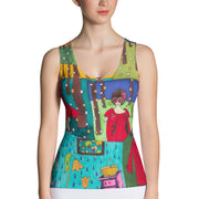 Bold and colorful tank top - striking and garish women shirts by Somejam - Little Red - Tank Top