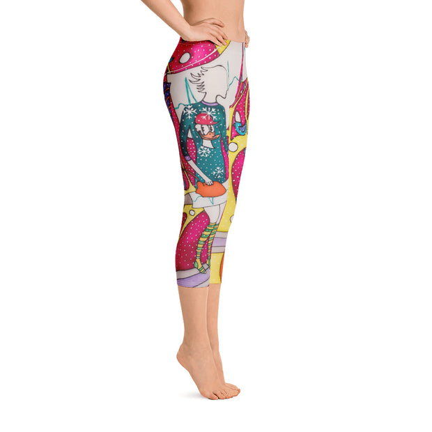Vivid and bold leggings - colorful and striking summer clothes by Somejam - Press the button to cancel - Capri Legging