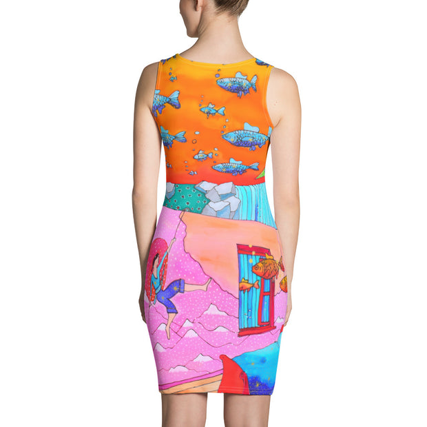 Colorful tight Summer Dress - vivid and garish summer clothes by Somejam - What's being and what seems to be - Strait Dress