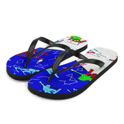 Colorful unique flip-flops - vivid and bold beachwear by Somejam - I have been a constellation - Flip-Flops