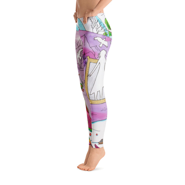 Bold and vivid leggings - colorful and garish yoga pants by Somejam - Show me your sorrow - Basic Legging