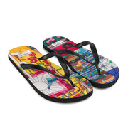 Colorful unique flip-flops - vivid and bold beachwear by Somejam - Bed of the river - Flip-Flops